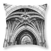 Princeton University Arched Walkway Throw Pillow