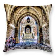 Princeton University Arches And Stairway To Education Throw Pillow