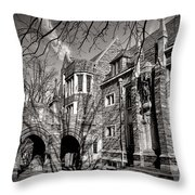Princeton University Foulke And Henry Halls Archway Throw Pillow