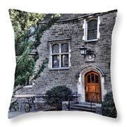Princeton University Little Hall Throw Pillow