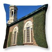 Princeton University Nassau Hall Cupola Throw Pillow