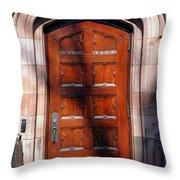 Princeton University Wood Door  Throw Pillow