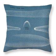 Principal Comets, Plate 2, 19th Century Throw Pillow