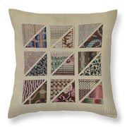 Printed Delaines Throw Pillow