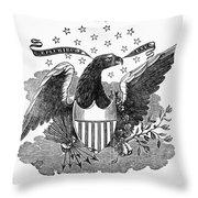 Printers Cut, 1825 Throw Pillow