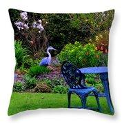 Priscillas English Garden Throw Pillow