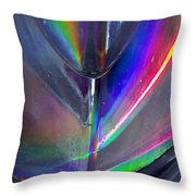 Prism Waves II Throw Pillow