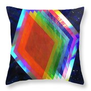 Prismatic Dimensions Throw Pillow