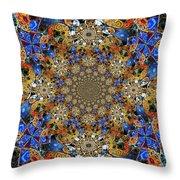 Prismatic Glasswork Throw Pillow