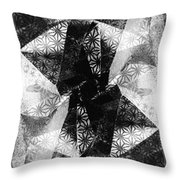 Prismatic Vision - Black And White Throw Pillow