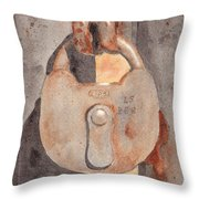 Prison Lock Throw Pillow