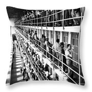Prison: San Quentin, 1954 Throw Pillow