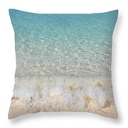 Pristine Beach At Half Moon Cay Throw Pillow