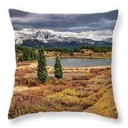 Pristine Mountain Lake Throw Pillow