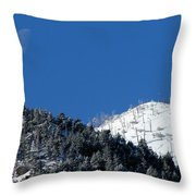Pristine Winter Morning Throw Pillow