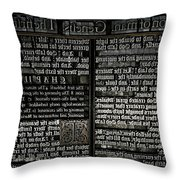 Priting Plate Throw Pillow