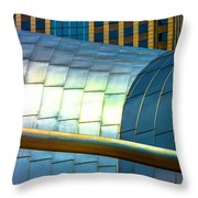 Pritzker Pavilion And Prudential Plaza Dsc2753 Throw Pillow