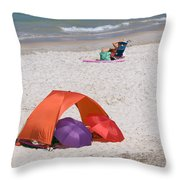 Privacy For Two At The Beach Throw Pillow