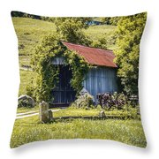 Private Covered Bridge Throw Pillow