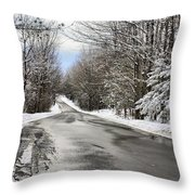 Private Country Road Throw Pillow