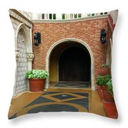 Private Entrance Throw Pillow