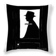 Private Eye  Throw Pillow