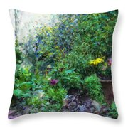 Private Garden Throw Pillow