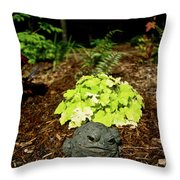Private Garden Go Away Throw Pillow
