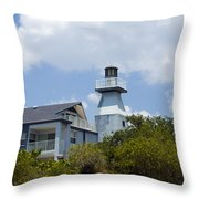 Private Lighthouse On The Indian River Lagoon In  Melbourne Florida Throw Pillow