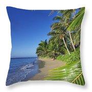 Private Molokai Beach Throw Pillow