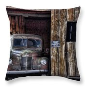 Private Parking Throw Pillow