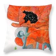 Prize Poppies Throw Pillow