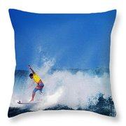 Pro Surfer Chris Ward Throw Pillow