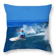 Pro Surfer Ezekiel Lau-1 Throw Pillow