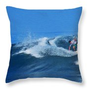 Pro Surfer Gabe King - 2 Throw Pillow