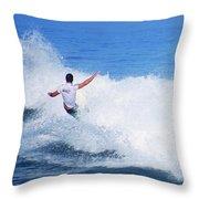 Pro Surfer Gabe King - 4 Throw Pillow