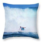 Pro Surfer Gabe King -6 Throw Pillow