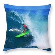Pro Surfer Keanu Asing-2 Throw Pillow