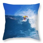 Pro Surfer Nathan Hedge-1 Throw Pillow