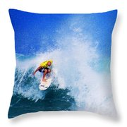 Pro Surfer-nathan Hedge-4 Throw Pillow