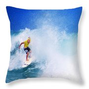 Pro Surfer-nathan Hedge-5 Throw Pillow
