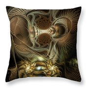 Probing Deception Throw Pillow
