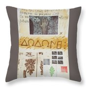 Procenemi Dodona, Oracle Of Zeus Throw Pillow