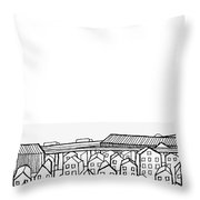 Proche Banlieue Throw Pillow