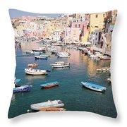 Procida Island, Italy Throw Pillow