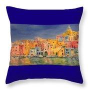 Procida, Italy Throw Pillow
