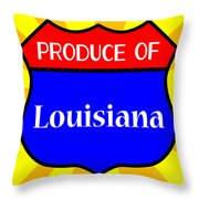 Produce Of Louisiana Shield Throw Pillow