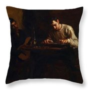 Professionals At Rehearsal 1883 Throw Pillow