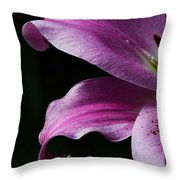 Profile In Pink Throw Pillow