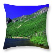 Profile Lake Franconia Notch Throw Pillow